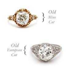 mine cut engagement ring discover the history of cuts fascinating timeline of