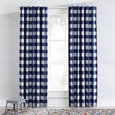 Blue Buffalo Check Curtains Blue Buffalo Check Curtains Crate And Barrel
