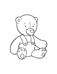 teddy bear toys coloring pages place color