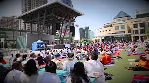 international day of yoga 21st june celebration square