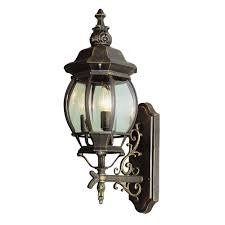 trans globe 4051 bg rochelle black gold outdoor wall sconce