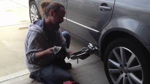tips on changing a tire and using a vw jack youtube