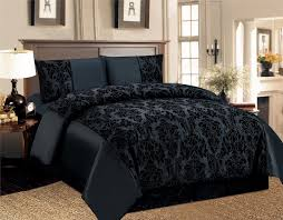 Luxury Bedding by 4 Pcs Duvet Cover Damask Quilted Luxury Bedding Comforter Set With
