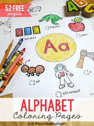 52 free alphabet coloring pages trace u0026 color