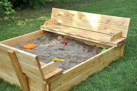 Backyard Sandbox Ideas Sandboxes With Covers Top Backyard Sandbox Ideas Convertible