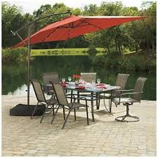 Big Lots Patio Umbrella Wilson Fisher Solar Offset 11 Rectangular Umbrella At Big Lots