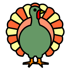 thanksgiving clip big beautiful turkey the graphics