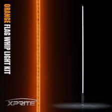Whip Flag Xprite 5ft Led Whip Light U0026 Flag Rzr Atv Utv Jeep Sand Dunes