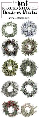 roundup of flocked wreaths for the holidays