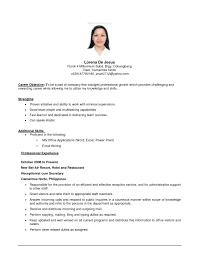 resume objective exles for service crew sle resume for service crew in jollibee best of sle resume