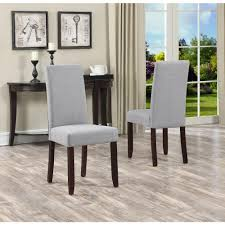 Parsons Dining Room Table Simpli Home Acadian Dove Grey Parsons Dining Chair Set Of 2