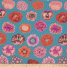 kaffe fassett home decor fabric kaffe fassett collective big blooms turquoise discount designer