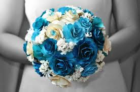 blue wedding bouquets wedding flowers wedding bouquets with blue flowers