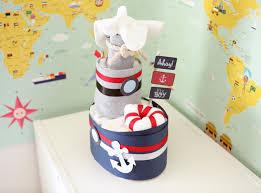 baby boy nautical diaper mini boat cake baby shower centerpiece