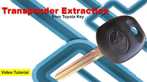 extract transponder sensor from toyota key youtube