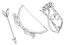 bow and arrow sketch by unit 45 on deviantart