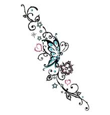 tribal flower butterfly tattoo style vector 1534763 by christine