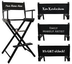 makeup stool for makeup artists black premium makeup chair with personalisation co uk