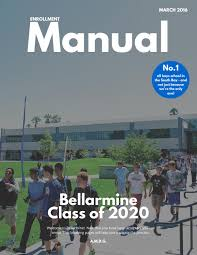 enrollment manual class of 2020 by bellarmine college