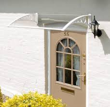 Awnings For Doors At Lowes Interesting Patio Door Awnings Canopies From Curved Plastic
