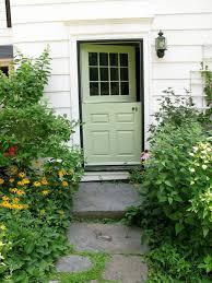 spring green door in white home sherwin williams organic green