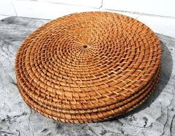 outdoor placemats for round table round orange placemats oriental style wooden orange placemats sale