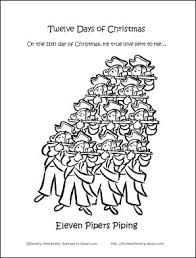 12 days of christmas coloring page 19 best 12 days of christmas images on pinterest 12 days twelve