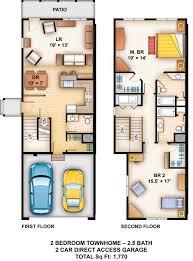 2 Bedroom Garage Apartment Floor Plans 25 More 3 Bedroom 3d Floor Plans 5 Loversiq