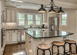 Oil Rubbed Bronze Kitchen Island Lighting by Black Rectangular Pendants In A White Kitchen Ideas Including 2017