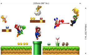 mario wall decals target color the walls of your house mario wall decals target huge super mario bros scene repositionable wall sticker auctions buy