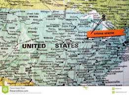 Chicago On Us Map by Chicago Shown As Crime Scene On U S Map Stock Photo Image 84600761