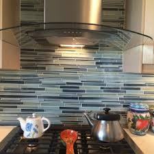 Painted Glass Backsplash Ideas by Decorating Beach Break Hand Painted Glass Mosaic As Glass