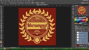 membuat logo kelas dengan photoshop tutorial photoshop membuat desain kaos youtube
