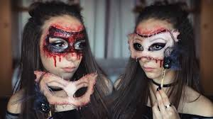 halloween mask makeup flesh mask sfx halloween makeup melania yaneva youtube