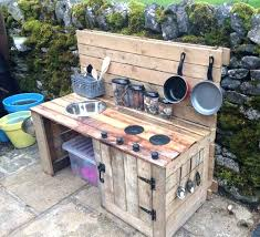 best outdoor play kitchen ideas on kids mud pie and side table