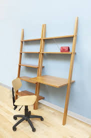 Leaning Bookshelf With Desk Linden Leaning Bookcase The Century House Madison Wi