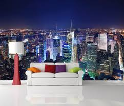 peel and stick photo wall mural decor wallpapers new york skyline peel and stick photo wall mural decor wallpapers new york skyline night art 502