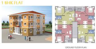 1bhk floor plan goka engineering gold valley konkan dapoli floor plans