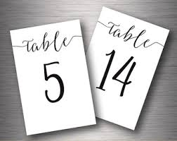table numbers 1 30 etsy