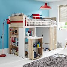 White High Sleeper Bed Frame White Frame High Sleeper With Oak Effect Panels Children S