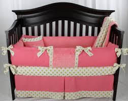Coral And Gold Bedding Coral Baby Bedding Etsy
