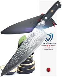 amazon com dalstrong chef s knife shogun series x gyuto amazon com dalstrong chef s knife shogun series x gyuto japanese aus 10v vacuum treated hammered finish 8