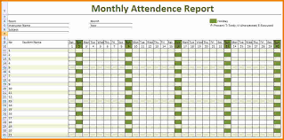Attendance Sheet Template Excel 4 Employee Attendance Sheet Expense Report