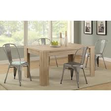 monarch sandson reclaimed wood rectangle dining table 5 piece set