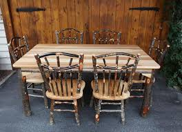 Hickory Chair Bench Amish Hickory Furniture For Sale In Lancaster Pa Carriage House