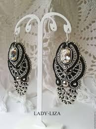 soutache earrings soutache earrings feathers deco soutache shop online on