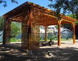 Pergola Post Base by Red Cedar Belvedere Pergolas Pergolas By Style Gazebocreations Com
