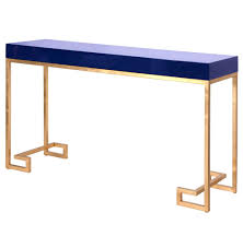 Blue Console Table Davinci Regency Navy Blue Gold Console Table Kathy Kuo