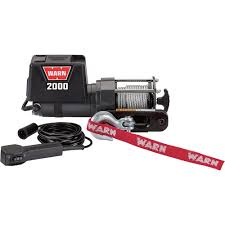 warn 12 volt dc powered electric utility winch u2014 2000 lb capacity