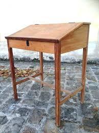 bureau bois occasion bureau d accolier ancien en bois bureau bois massif ancien bureau